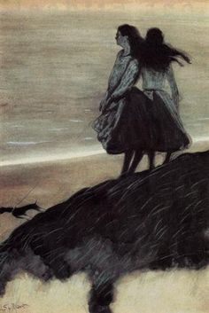 Girls on a Dune - Leon Spilliaert - Expressionism, Symbolism