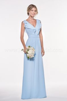 Jasmine Bridal   Jasmine Bridesmaids Style P196007 in Powder Blue