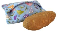 Microwave Potato Sack - Easy, quick in the hoop potato sack design!  Enjoy scrumptious potatoes made quickly in the microwave using our microwave potato sack.  The Microwave Potato Sack helps trap moisture inside while the potato is cooking and reduces cooking time.  Hoop size: 5x7 Design size: 4.31 x 6.80 Stitch count: 2242  Hoop size: 6x10 Design size: 5.87 x 9.25 Stitch count: 3003  Designs will be sent instantly in the following formats: ART, PES, JEF, HUS, VIP, DST, EXP