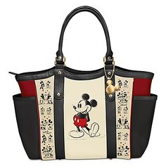 Disney Mickey Mouse And Minnie Mouse Love Story Shoulder Tote Bag
