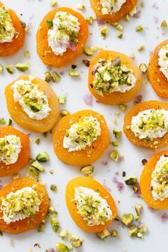 Apricot, goat cheese