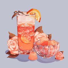 Arte Do Kawaii, Kawaii Art, Cute Food Drawings, Kawaii Drawings, Cute Food Art, Cute Art, Dessert Illustration, Illustration Art, Aesthetic Art