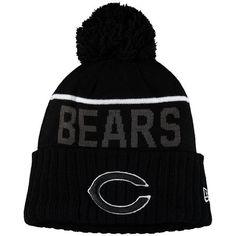a8617feb840244 Men's Chicago Bears New Era Black Black & White Sport Cuffed Knit Hat  Beanie Hats