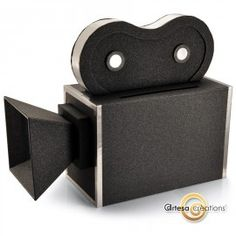 Boîte à dons Cinema Camera Noire Pailletée