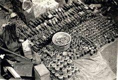The Vietnam War Era : Photo Homemade grenades discovered by Marines