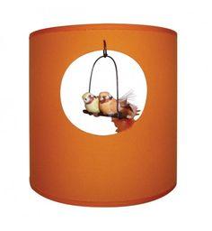 Applique Oiseaux - Orange Vif