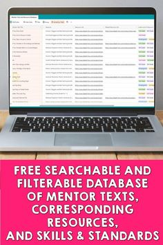 This free searchable and filterable database of hundreds of mentor texts includes:  ✅all book info (title, author, genre, type)  ✅links to the books ✅links to Ideas by Jivey's resources where the books are used ✅grade levels of the resources ✅all of the skills and standards covered with the book in that resource ✅and EVEN related resources that you might want to use to go deeper into a skill or topic!