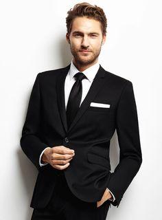 Slim Fit Black Suits