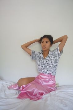 LISA SAYS GAH | Satin Wrap Skirt - Pink