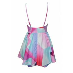 Abstract Pattern Dress-Romper