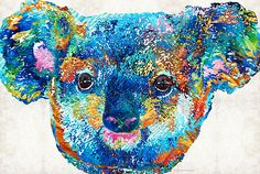 Colorful Koala Bear Art By Sharon Cummings by Sharon Cummings