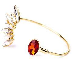Fancy Peacock Bracelet Beautiful  Fancy Peacock Bracelet  Size: adjustable  Materials: Gold-tone Base Metals, Rhinestones, Resin  Nickel & Lead Free  Condition: New Jewelry Bracelets