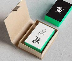 Carte Visite Noir Verte Mockup De Design