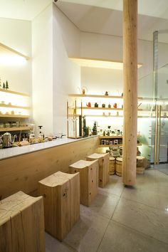 Coffee House Design With Natural Timber in Seoul, Korea, by Design BON_O