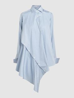 Palmer//Harding - Asymmetric Striped Cotton Shirt