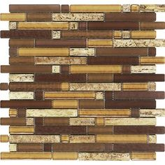 Epoch Architectural Surfaces Varietals Stone And Glass Blend 12 in. x 12 in. Mesh Mounted Floor and Wall Tile sq. / - The Home Depot Stone Mosaic, Stone Tiles, Mosaic Glass, Mosaic Tiles, Wall Tiles, Glass Tiles, Latte, Shower Surround, Schaum