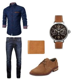 """Sin título #3"" by marialuisa2192 on Polyvore featuring Jack & Jones, Original Penguin, FOSSIL, Bell & Ross, men's fashion y menswear"