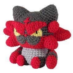 Ravelry: Pokemon: Incineroar pattern by i crochet things Pokemon Crochet Pattern, Plush Pattern, Crochet Geek, Knit Or Crochet, Amigurumi Patterns, Amigurumi Doll, Crochet Crafts, Doll Patterns, Crochet Toys