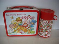 Wait, there is my beloved lattice work thermos.  It must have come from this lunchbox, which I do remember having.