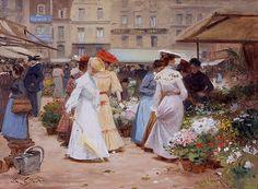 Marche aux Fleurs, Victor Gilbert