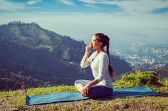 pranayama yoga meditation breath happy love nature city spirit
