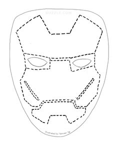 Iron man mask pumpkin stencil images for Iron man face mask template