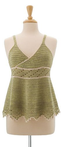 Ravelry: Midsummer's Dream Camisole pattern by Amie Hirtes - would be a super cute dress if lengthened!
