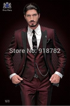 Groom Tuxedo Suit Groomsmen Men Wedding Prom Suits #Groom #Tuxedo #Suit #Groomsmen #Men #Wedding #Prom #Suits #branding #fitness #wine #weddings #custommade #suite New Brand Groom Tuxedo Suit Custom Made Wine Red Men Suits Terno Slim Fit Peaked Lapel Groomsmen Men Wedding Prom Suits