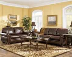 Brown Sofas Filling A Modern Style Living Room All Leather Sofa Nidahspa
