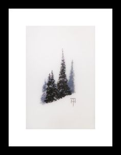 "Mountain Gems III by Terri Heinrichs - 4""x6"" - charcoal pastel & graphite on mylar - Etsy $125"