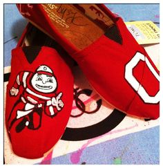 new style ad5c6 01e40 Ohio State Custom Toms Shoes by CustomTOMSbyJC on Etsy,  100.00- Ah no way!