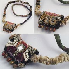 Gordana Brelih, 2016, - necklace - machine and hand stitching...cotton, silk, felt, velvet