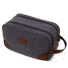 7ec7894fd9 Amazon.com   Iblue Canvas Travel Toiletry Organizer Shaving Dopp Kit  Cosmetic Makeup Bag 9 Inch  B4 (grey)   Beauty