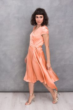 Party Outfits, Simple Lines, Peach, Elegant, Vintage, Dresses, Style, Fashion, Classy