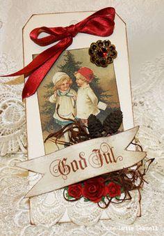 Christmastag God Jul merry christmas  In swedish.