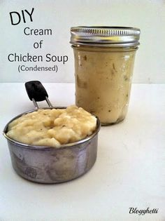 Blogghetti: DIY Cream of Chicken Soup (Condensed) (Use in making the famous Green Bean Casserole, replace chicken with Mushrooms!)