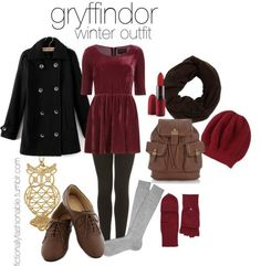 Gryffindor // sigh red is such a great color. i've got to say, i really love a lot of gryffindor outfits
