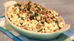 Havarti and Horseradish Stovetop Mac and Cheese Recipe The Chew Recipes, Side Dish Recipes, Great Recipes, Cooking Recipes, Side Dishes, Stovetop Mac And Cheese, Macaroni Cheese, Mac Cheese, Pasta Dishes