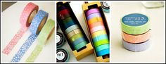 Colorful Masking Tape:  .  The last product I want to tell you about is Invite L's really fun line of colorful masking tape. Their tape comes in different widths, colors, and patterns and I actually use it in place of labels – because it just looks so much nicer!