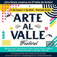 #quehaypahoypanama #31mar . .  @artealvalle -  hoyyy la segunda versión del Festival Arte al Valle sábado 31 de marzo y domingo 1 de abril...más valle más naturaleza más arte más encuentro más convivencia más gente creativa más cultura!! #artealvalle #artfestival #art #market #artesanal #music #workshops #visualarts #kidsfriendly #nature #mountains - #panama