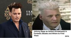 Johnny Depp as Gellert Grindelwald in Fantastic Beasts and Where to Find Them