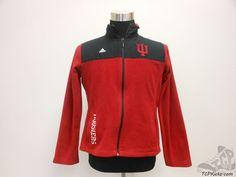 Womens Adidas Indiana Full Zip Fleece Jacket sz L Large University SEWN NCAA Red #adidas #IndianaHoosiers #tcpkickz