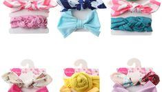 Set de trei bentite de cap pentru copii mici, ideale pentru acoperitul urechilor si prinsul parului la bebelusi, accesorii pentru cap si pentru par de oferit cadou, decorative, cu funda Cape, Mantle, Cabo, Cloak
