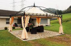 Kerti kiülő ötletek - Dekordíszek Garden Furniture, Outdoor Furniture, Outdoor Decor, New England Arbors, Dubai, Tent Design, Terrace Garden, Craft Shop, Gazebo