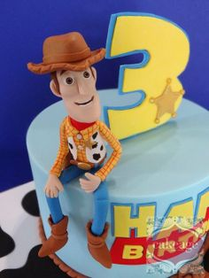 Toy Story cake- all handmodelled from fondant. Toy Story Cake Toppers, Toy Story Cakes, Toy Story Birthday Cake, 3rd Birthday, Birthday Cakes, Birthday Ideas, Bolos Toy Story, Woody Cake, Toy Story Baby