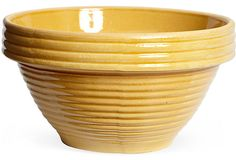 Large Yellowware Beehive Bowl on OneKingsLane.com