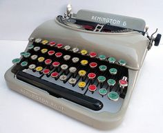 Fancy - RARE 1930 Remington Colored Glasskey Typewriter by joevintage