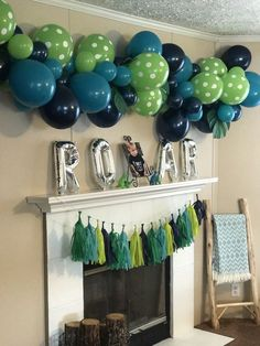 Dinosaur Party Dino Party Second Birthday Party Birthday Turning Two Tw Christmas Dinasour Birthday, Dinosaur First Birthday, Boys 1st Birthday Party Ideas, Second Birthday Ideas, Birthday Party Decorations, Green Party Decorations, Dinosaur Party Decorations, Elmo Birthday, 13th Birthday