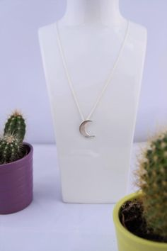 Halfmoon pendant, silver halfmoon necklace, crescent moon necklace, sterling silver cresent moon  https://www.etsy.com/uk/listing/463765994/halfmoon-necklace-silver-pendant-solid