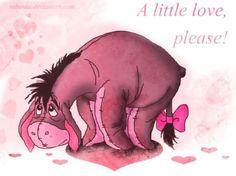 A little love please by rebenke on DeviantArt Pooh Bear, Tigger, Disney Pixar, Disney Characters, The Donkey, Feeling Alone, Beautiful Stories, Detailed Image, Squirrel